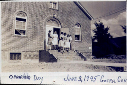 Gospel Center opening day 1945